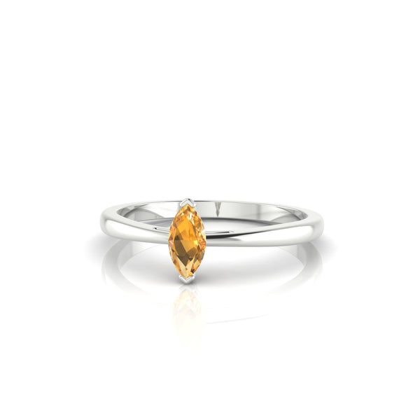 Reverse Citrine | Marquise 6 x 3 mm Argent 925