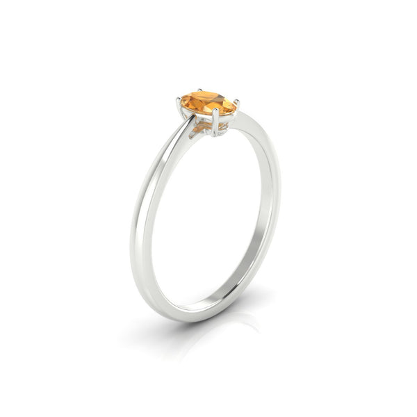 Reverse Citrine | Ovale 6 x 4 mm Argent 925