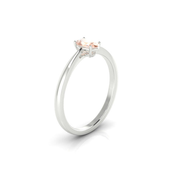 Reverse Morganite | Ovale 6 x 4 mm Argent 925