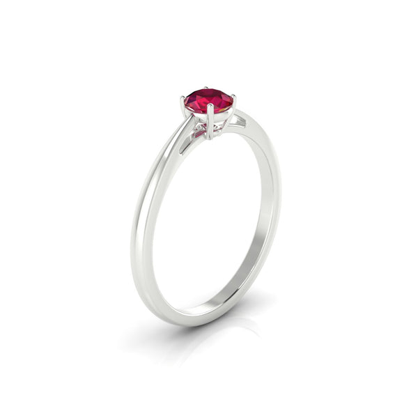 Reverse Rubis | 4.5 mm Argent 925 Ronde