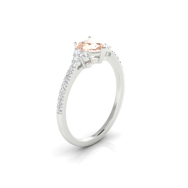 Sublime Morganite | Coeur 6 mm Argent 925