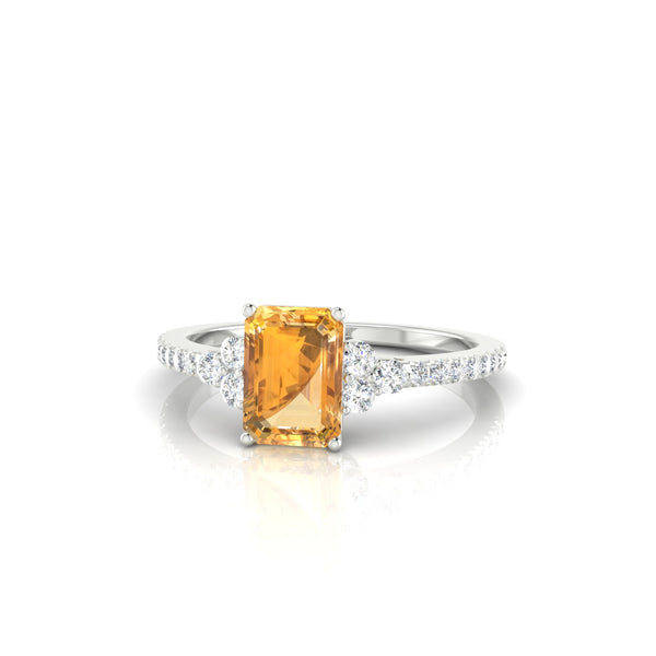Sublime Citrine | Emeraude 7 x 5 mm Argent 925