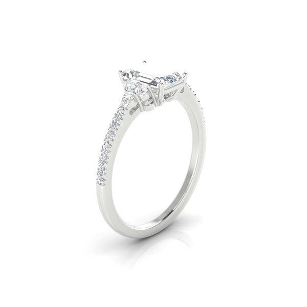 Sublime Diamant | Emeraude 7 x 5 mm Argent 925