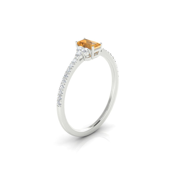 Sublime Citrine | Emeraude 5 x 3 mm Argent 925