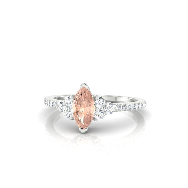 Sublime Morganite | Marquise 8 x 4 mm Argent 925