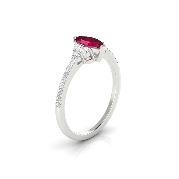 Sublime Rubis | Marquise 4 x 2 mm Argent 925