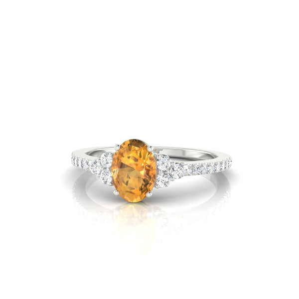 Sublime Citrine | Ovale 7 x 5 mm Argent 925