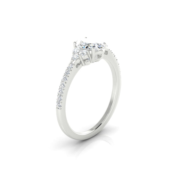 Sublime Diamant | Ovale 7 x 5 mm Argent 925