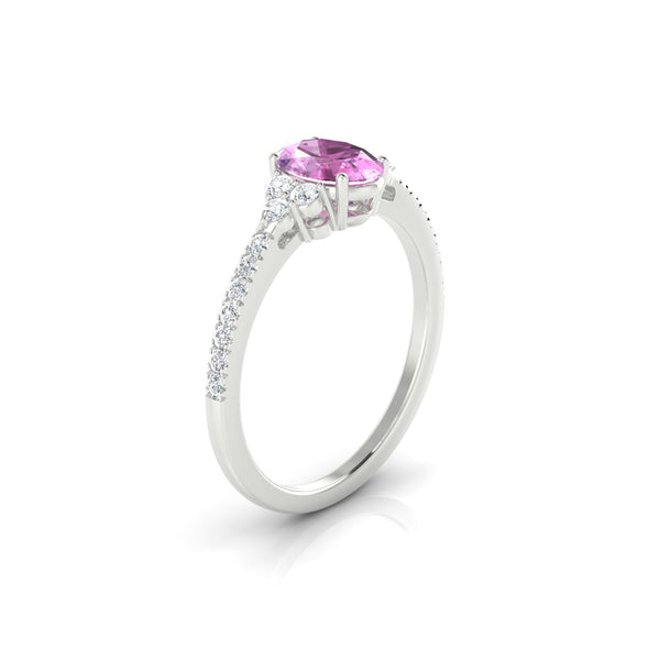 Sublime Saphir rose | Ovale 7 x 5 mm Argent 925