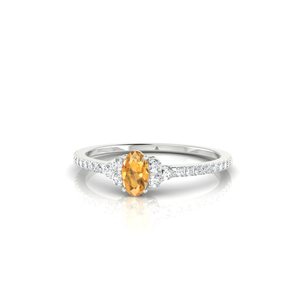 Sublime Citrine | Ovale 5 x 3 mm Argent 925