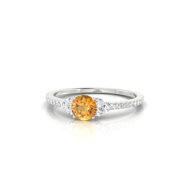 Sublime Citrine | Ronde 4.5 mm Argent 925