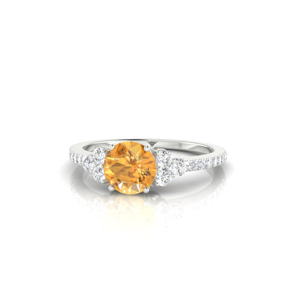 Sublime Citrine | Ronde 6 mm Argent 925