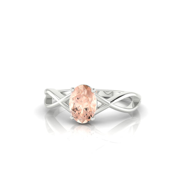 Tiara Morganite | Ovale 7 x 5 mm Argent 925
