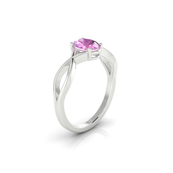Tiara Saphir rose | Ovale 7 x 5 mm Argent 925