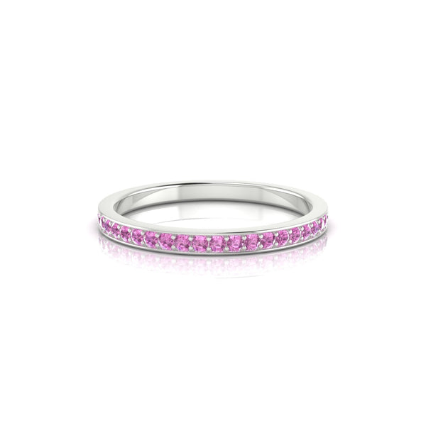 Union Saphir rose | Ronde 1.3 mm Argent 925