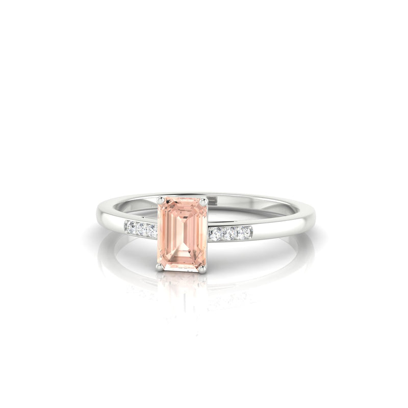Vera Morganite | Emeraude 6 x 4 mm Argent 925