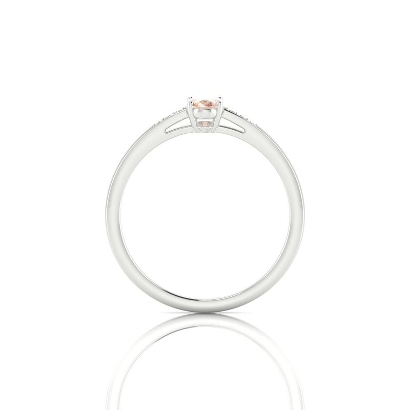 Vera Morganite | Ovale 6 x 4 mm Argent 925