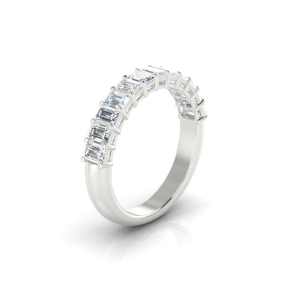 Victoria Diamant | Emeraude 3.4 x 2.3 mm Or Blanc 18k