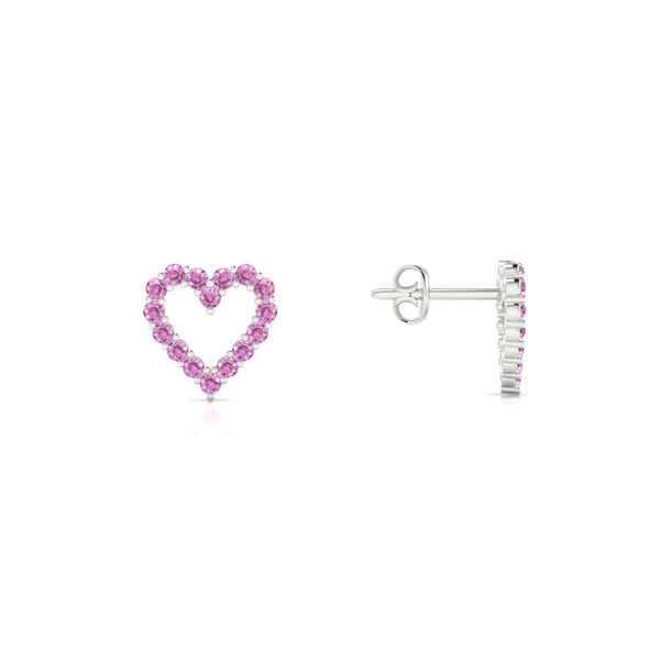 Amour Saphir rose | Ronde 1.3 mm Argent 925