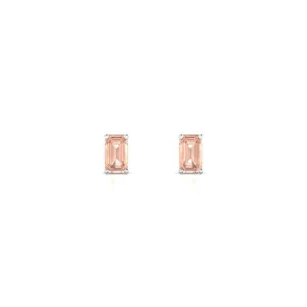 Annaelle Morganite | Emeraude 5 x 3 mm Argent 925