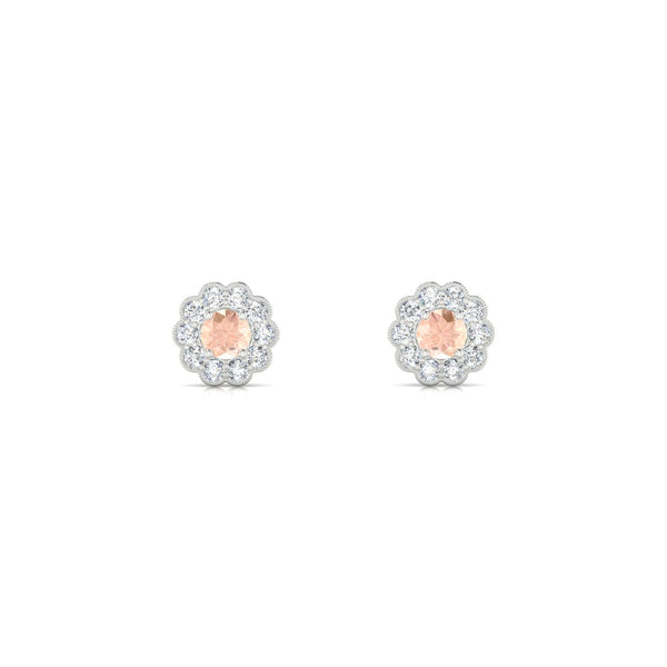 Clelia Morganite | Ronde 3 mm Argent 925