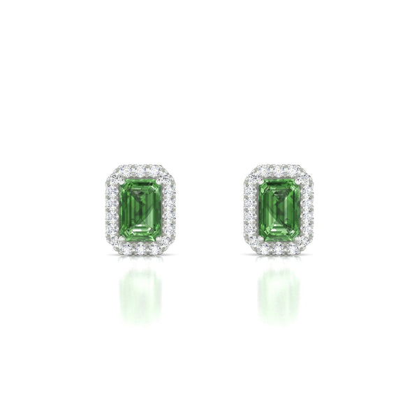Clothilde Tourmaline verte | Emeraude 6 x 4 mm Argent 925