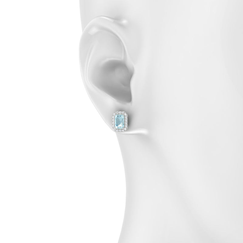 Clothilde Aigue-marine | Emeraude 6 x 4 mm Argent 925