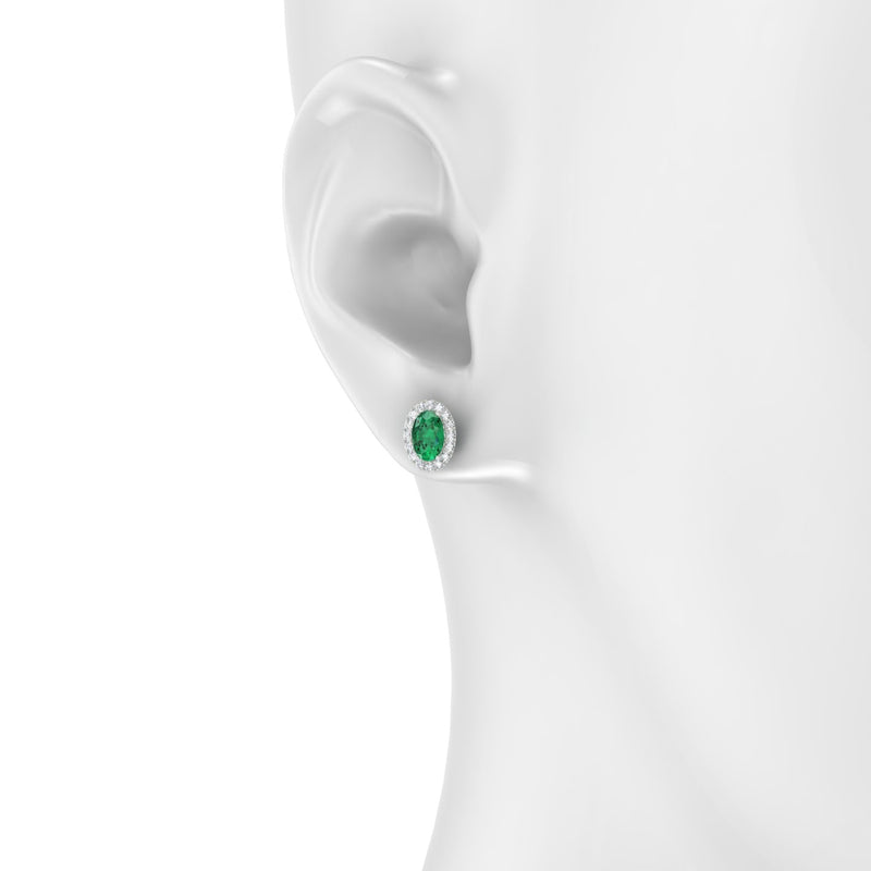 Clothilde Emeraude | Ovale 6 x 4 mm Argent 925