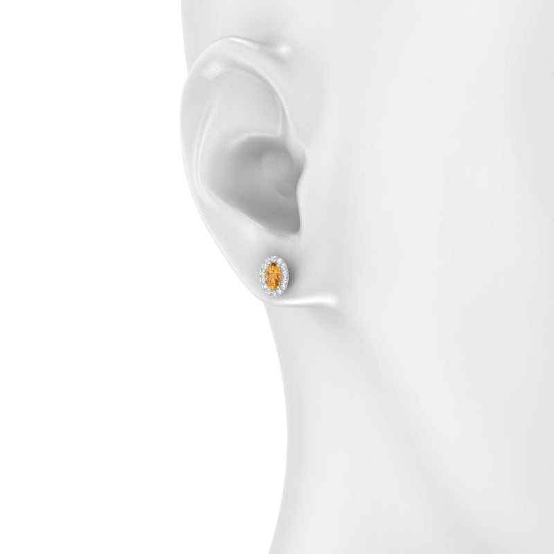 Clothilde Citrine | Ovale 5 x 3 mm Argent 925