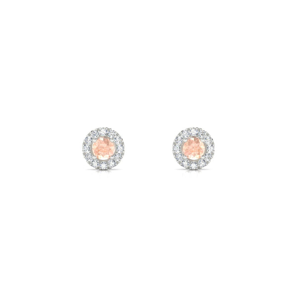 Clothilde Morganite | Ronde 3 mm Argent 925