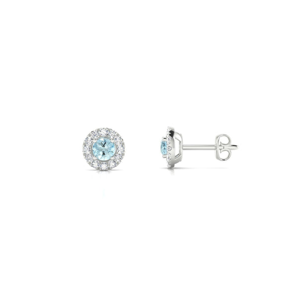 Clothilde Aigue-marine | Ronde 3 mm Argent 925