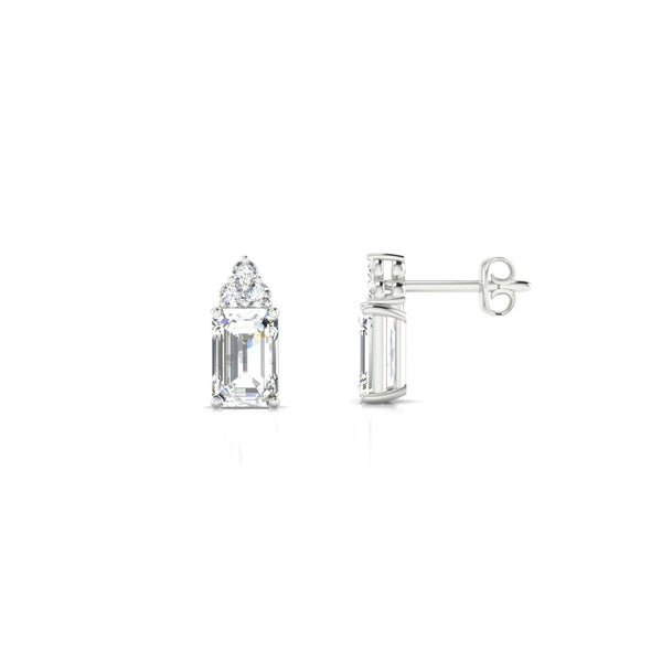 Divine Diamant | Emeraude 6 x 4 mm Argent 925
