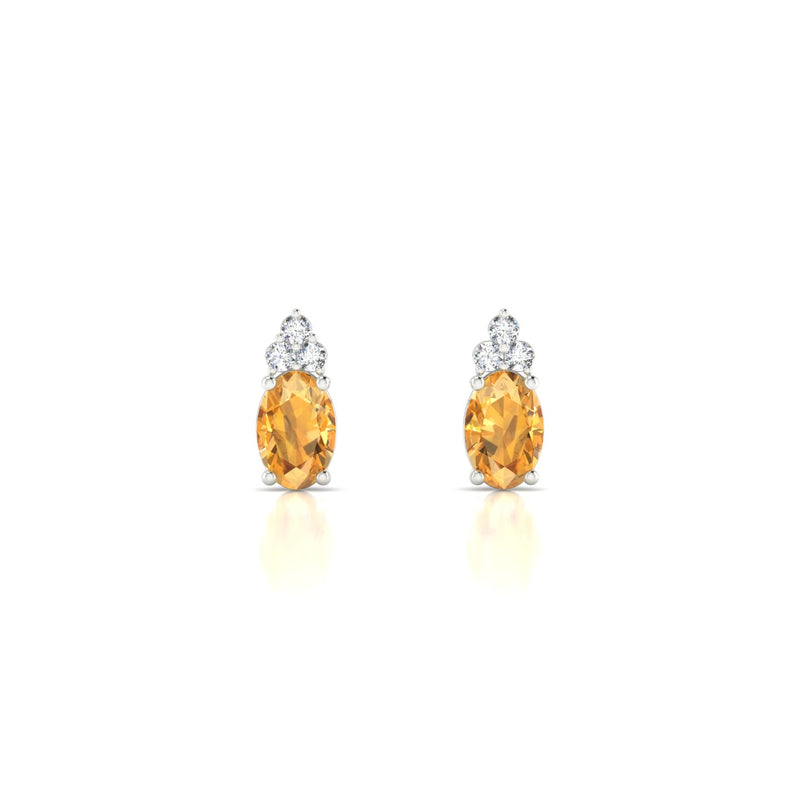 Divine Citrine | Ovale 6 x 4 mm Argent 925