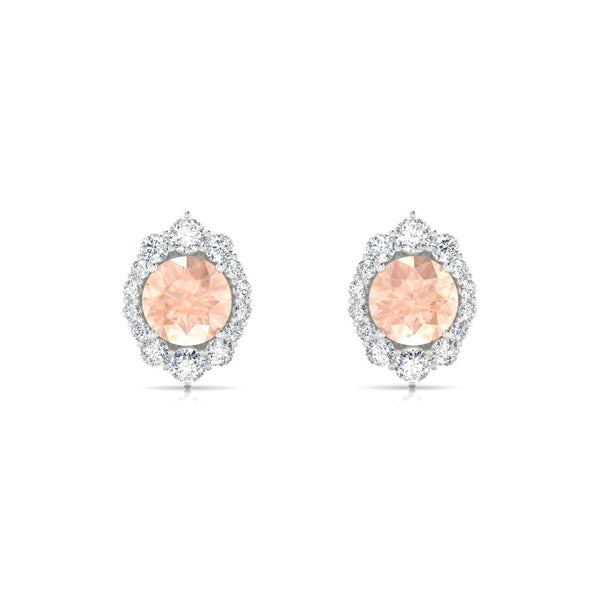 Eileen Morganite | Ronde 6 mm Argent 925