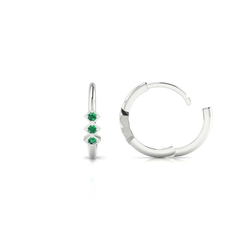 Louka Emeraude | 1.3 mm Or Blanc 18k Ronde