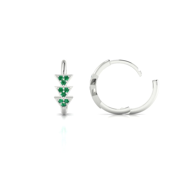 Ode Emeraude | 1.1 mm Or Blanc 18k Ronde