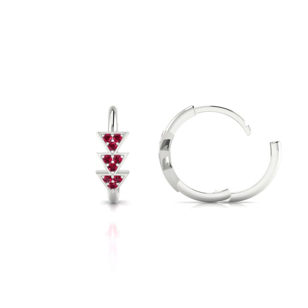 Ode Rubis | 1.1 mm Or Blanc 18k Ronde