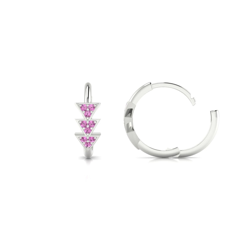 Ode Saphir rose | 1.1 mm Or Blanc 18k Ronde