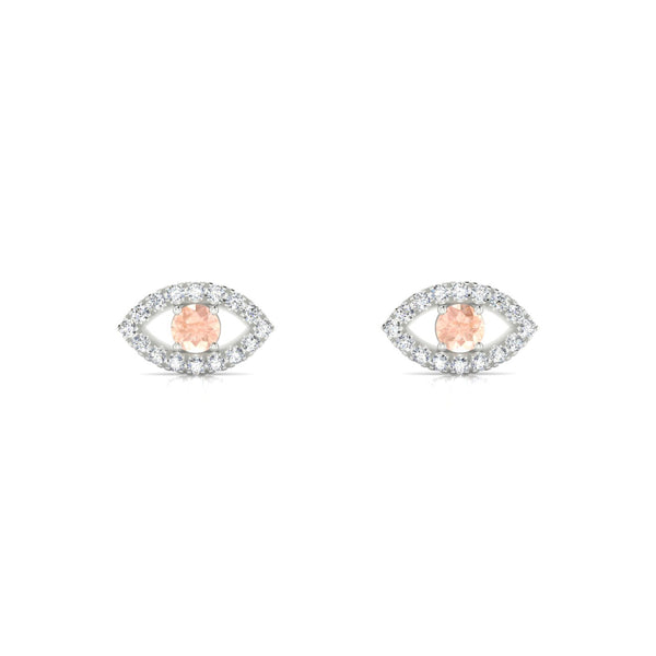 Persia Morganite | Ronde 3 mm Argent 925