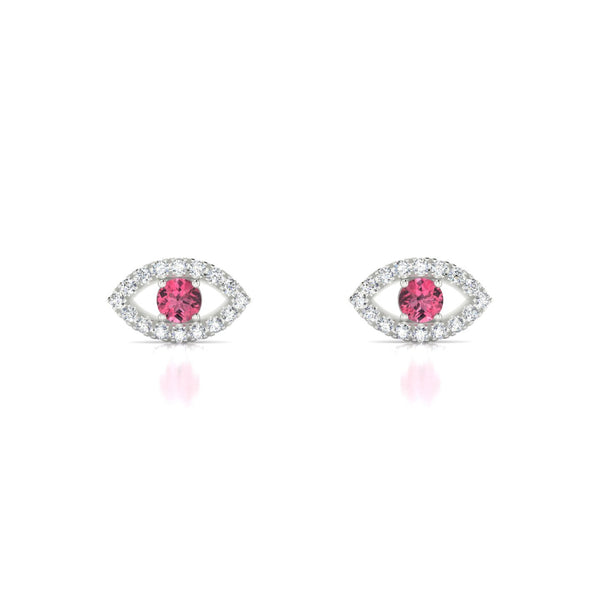 Persia Tourmaline rose | Ronde 3 mm Argent 925