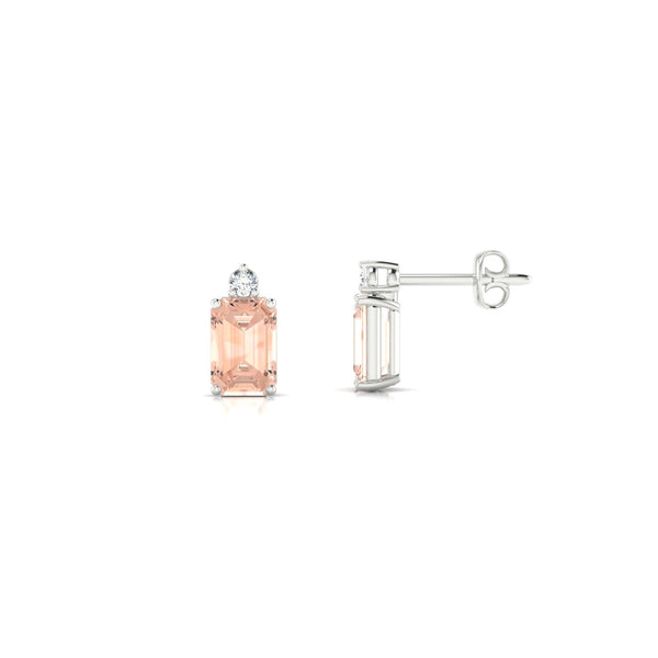 Plaisante Morganite | Emeraude 6 x 4 mm Argent 925