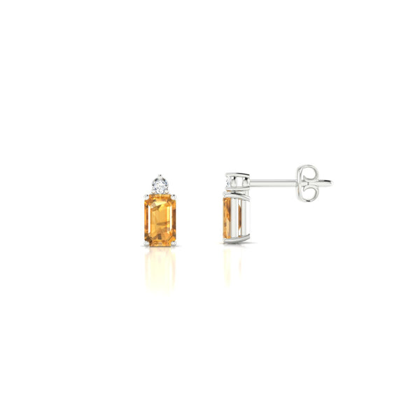 Plaisante Citrine | Emeraude 5 x 3 mm Argent 925