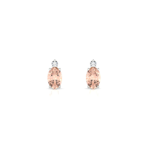 Plaisante Morganite | Ovale 6 x 4 mm Argent 925
