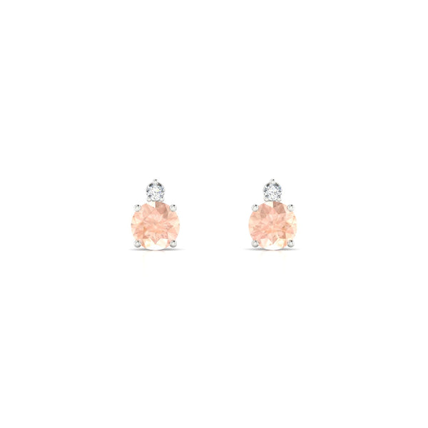 Plaisante Morganite | Ronde 4.5 mm Argent 925