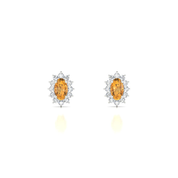 Solene Citrine | Ovale 5 x 3 mm Argent 925