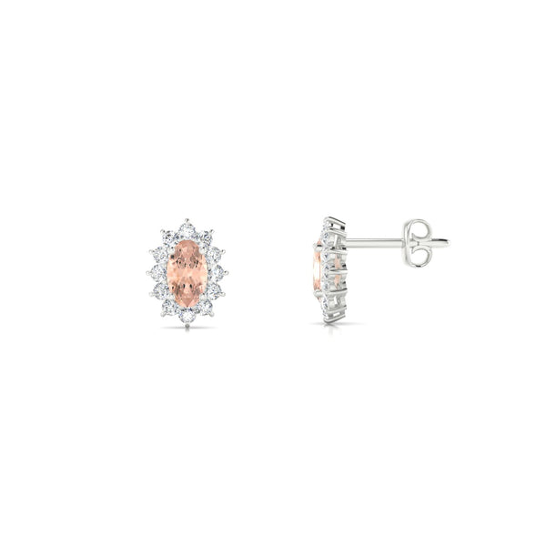 Solene Morganite | Ovale 5 x 3 mm Argent 925