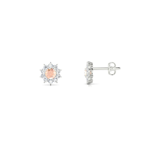 Solene Morganite | Ronde 3 mm Argent 925