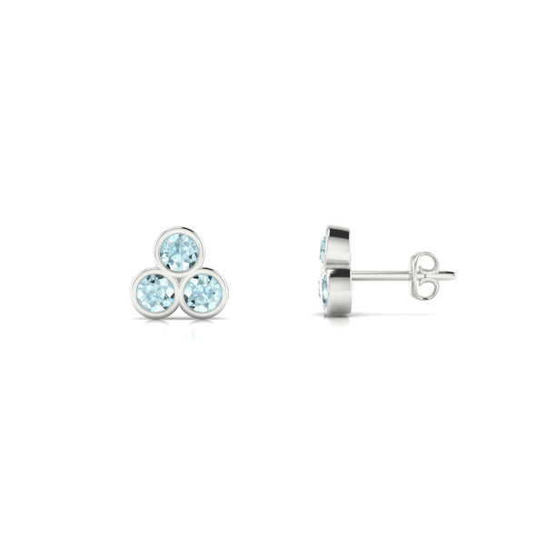 Triade Aigue-marine | Ronde 3 mm Argent 925