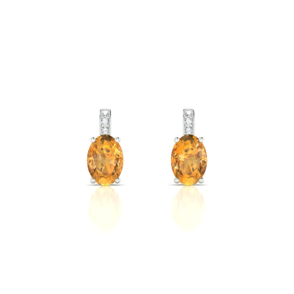 Vera Citrine | Ovale 7 x 5 mm Argent 925