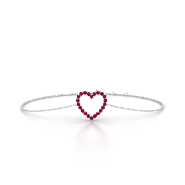Amour Rubis | Ronde 1.5 mm Or Blanc 18k